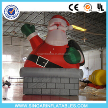 2016 New design giant christmas santa claus roof decoration