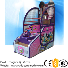 2016 New Indoor Amusement Equipment Arcade Children Kids Mickey Mouse Coin Operated Basketball Games Machines