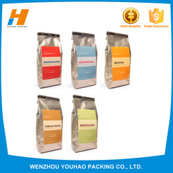 New Gold Chain Design For Men Coffee Packaging Bag With Valve
