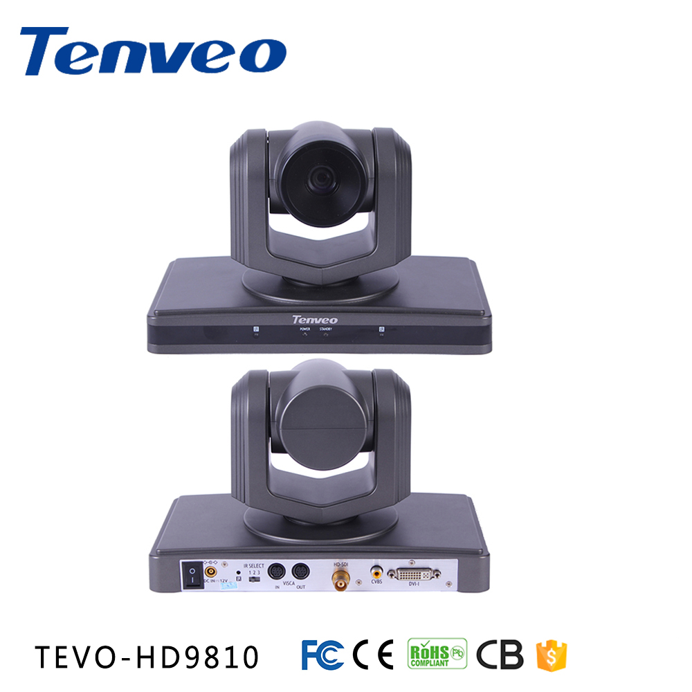 TEVO-HD9810 conference-camera 1080p@30fps | 10x Optical zoom |UVC/VISCA Control | HOV 51.8 degree| USB3.0 YUY2 hd-sdi ptz camera