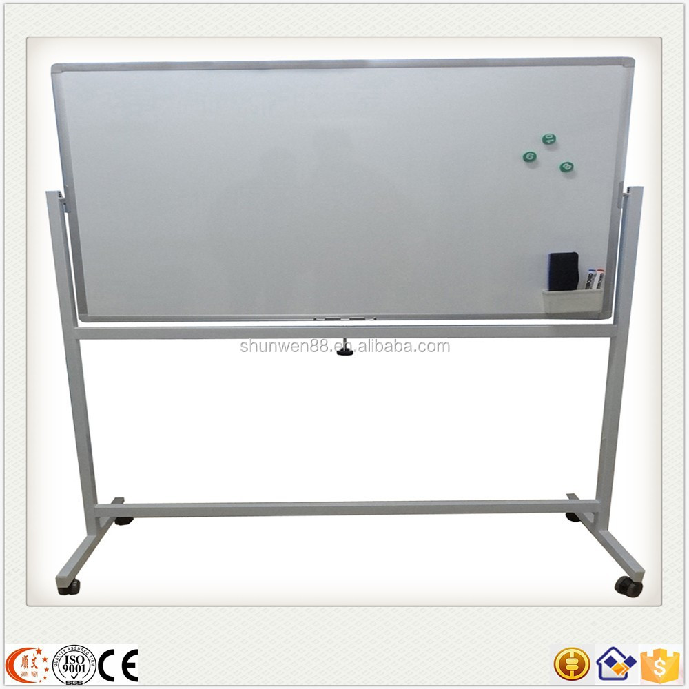 Alibaba best sellers reversible magnetic double sided whiteboard with stand
