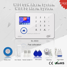 GSM/3G WiFi GPRS SMS wifi home alarm system OEM/ODM gsm alarm system Workable with 100pcs smart socket