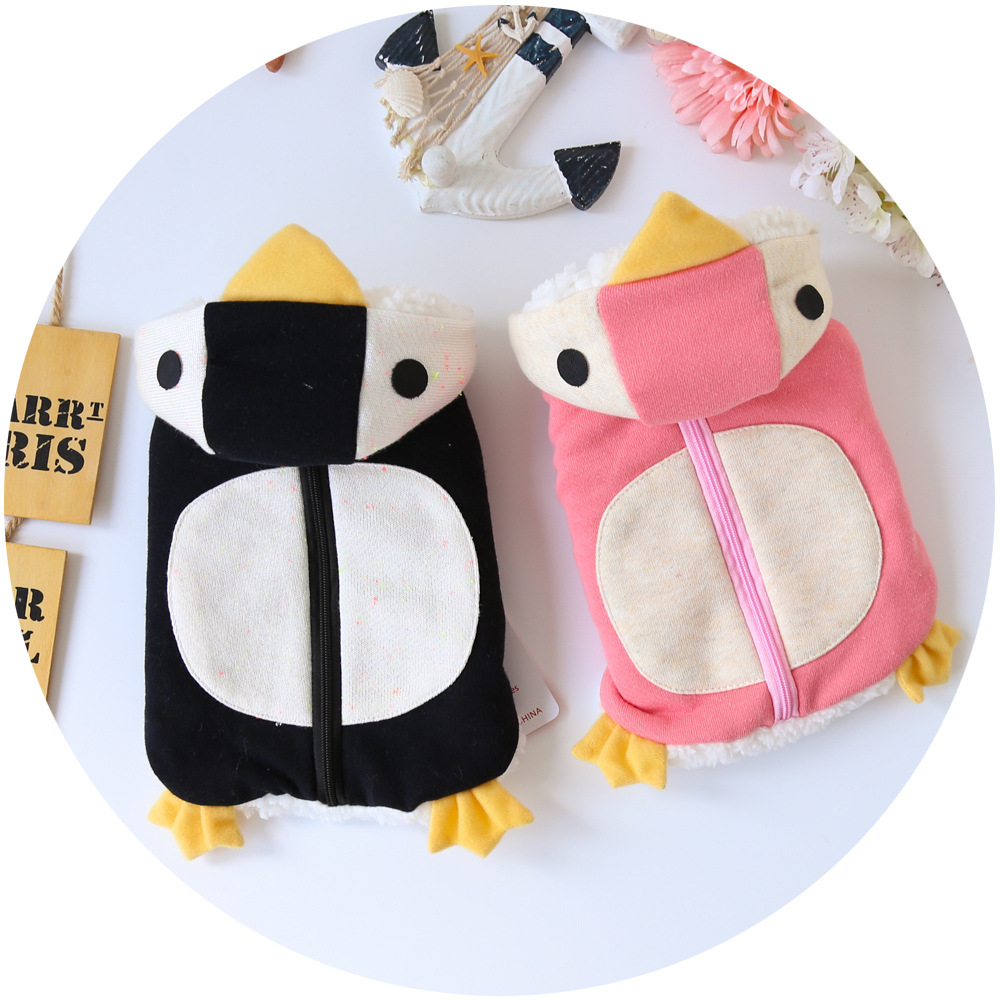 Pet clothes for dogs penguin dolls pattern printed dog hoodie cotton padded cute fashion pet clothing