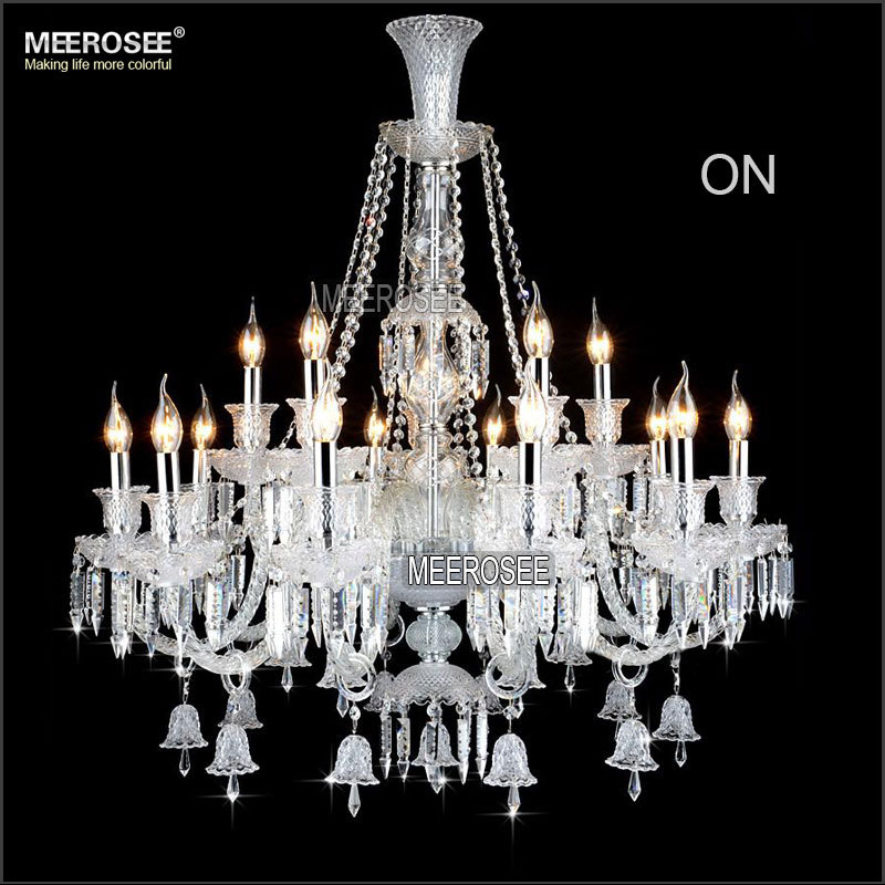 MEEROSEE New Arrival Cristal Chandelier Candle Bulbs Crystal Vintage Lighting for Hotel Lobby MD2397