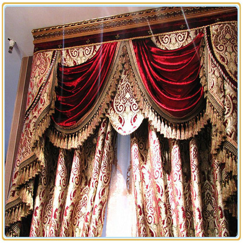 TOP ONE 2016 100% polyester luxury european style embroidery window curtains/curtain tissue fabric