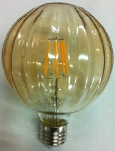 G95 110V 220V 2W 4W 6W led filament bulb decorate lamp special new shape design stripe gold glass