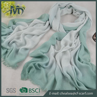 wholesale scarf women ombre printing viscose shawl scarf