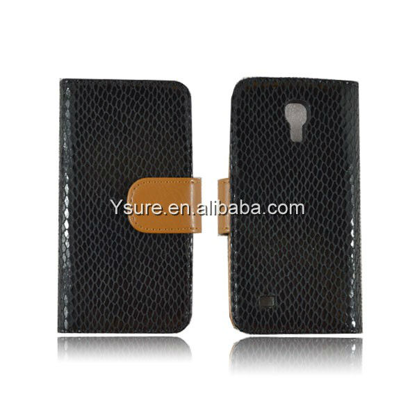 stylish unique PU flip leather wallet case for Samsung S4 mini with card slot