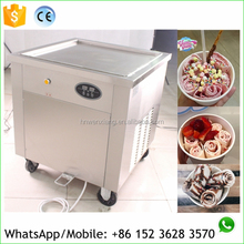 Thailand style instant fried ice cream rolls machine with ce certificate