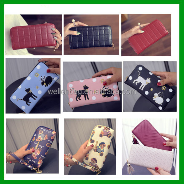 2017 European style Fashion Women Clutch Ladies Wallets And Purses money clip wallet
