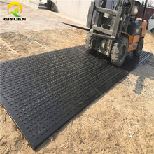 Black hdpe ground cover mat hard plastic crane truck temporary road mats