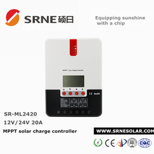 SRNE 20A 12v/24v digital display mppt solar charge controller for home system