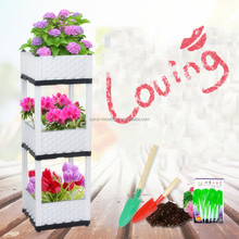 Outdoor stackable plastic modular planter boxes for sale