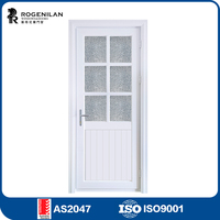 Rogenilan decorative interior double glass aluminum half height swing door