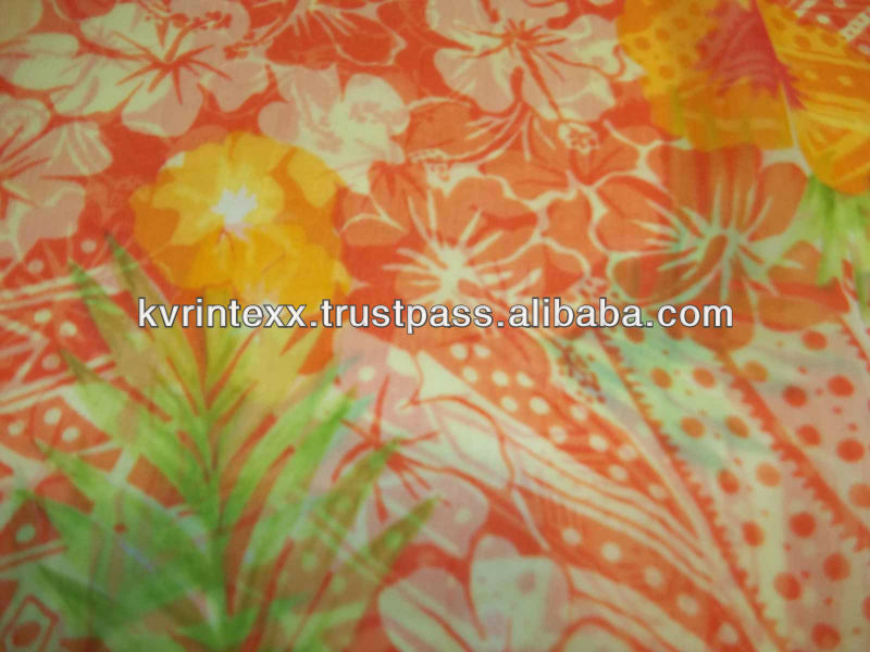 2015 New design silk chiffon fabric