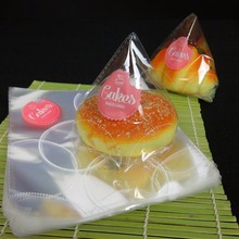 Cellophane plastic bread bag transparent small cake packing bag