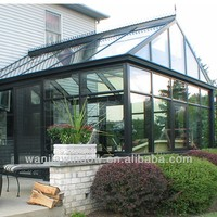 Triangle design aluminum glass house