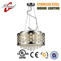 Home decorative modern pendant light with crystal for UL & CE market