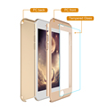 360 Degree Full Cover Plastic Hard Case for iPhone 7 with Tempered Glass