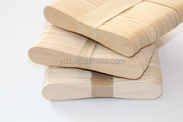 wholesale Factory wooden popsicle sticks for Ice Cream logo branding