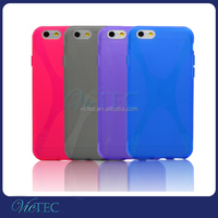 Shenzhen Fashion Soft X Line TPU Jelly Phone Case for iPhone 6