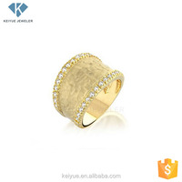 Alibaba china Enduring love gold-plated men rings silver 925