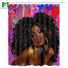 Hafei China Factory Supply Direct African woman Bathroom Shower Curtains design