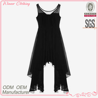 newest fashion design sexy clothes for big women with uneven hem and strap