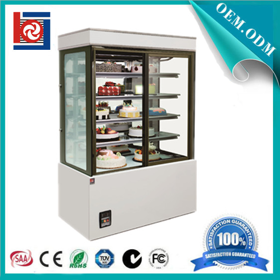 supermarket cake display refrigerator showcase