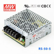 RS-50-5 50W 5V10A Withstand 5G vibration test AC-DC Single Meanwell Switch Power Supply