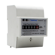 Analog Display Measure Accurately Bottom Mounted Din Rail Electric kwh Meter