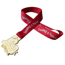 2017 Factory Hot Sale Newest Custom 3D Metal Running Medal Ribbon