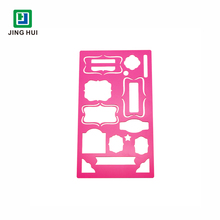 Custom Layout Template Painted Pink Metal Stencils
