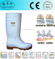 Wear-Proof White Men's PVC Rain Gumboots Footwear