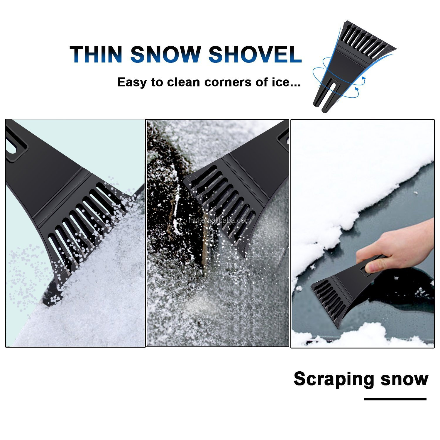 Winter necessary car Window snow ice removal brush with scraper