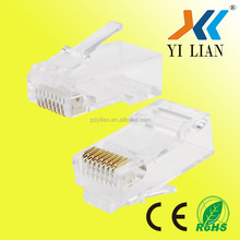 rj11 to rj45 adapter RJ45 CAT5E CAT6 Modular Plug Network Connector for Cat5 Cat5e Cat6 Cable