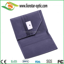 factory direct pu Leather Embossed Passport Holder Cover with card slot, sim slot
