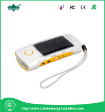 solar charger with FM Radio & Solar flashlight with phone charger & solar Radio