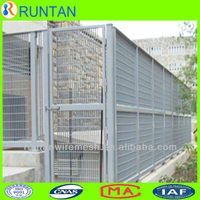 galvanized steel grating fence wall