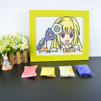 wholesale eva painting online/sand art tools/easy arts and crafts for kids