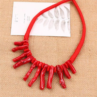Coral jewelry necklace,amazon best selling necklace,Natural stone accessories (SWTMD3228)
