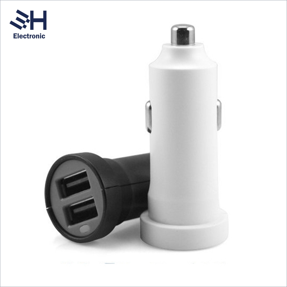 OEM Colorful 5V 2.4A/3.4A/4.8A Usb Car Charger CE Portable Car Battery Charger 12V Dual usb for Samsung Charger
