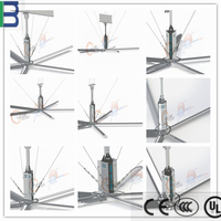 Wholesale China supplier 5 blades WMC HVLS gaint industrial ceiling fan in good price