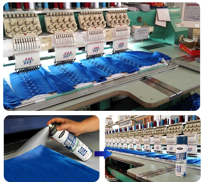 Embroidery Spray Fabric Adhesive Glue For Leather Garments