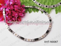 fashion stainless steel/ titanium carbon fiber chain necklace/ healthy care body therapy 99.99% germanium jewelry
