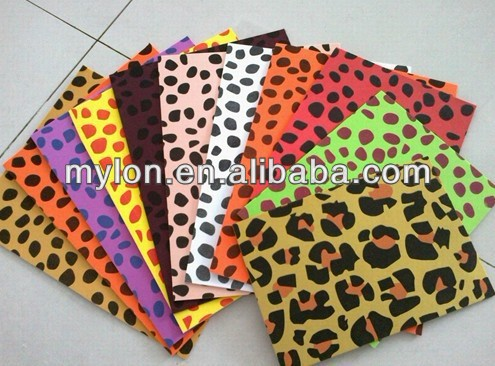 high quality various popular leopard printed Glitter EVA sheet