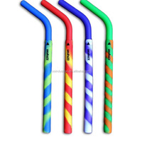 Custom logo reusable Silicone Drinking Straw,silicone rubber straws,drinking straw