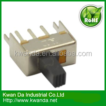 1P2T slide switch SS12F49 used for electronic equipment like computer video Audio