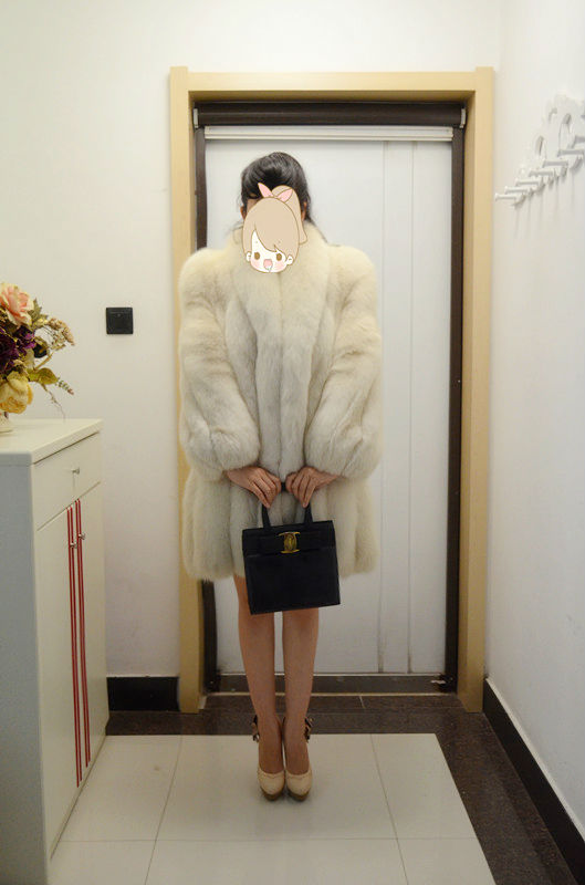 Janefur Winnter's Friend:Siver Fox Fur Coat/Keep Warm/Scheduled Style