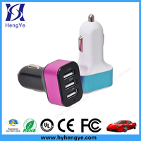 Alibaba China factory price wholesale 3 port usb mini car charger for ipad / iphone6